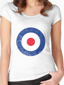 Cocarde RAF UK Women's Fitted Scoop T-Shirt