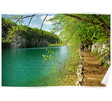 Spring colors in Plitvice N.P. Poster