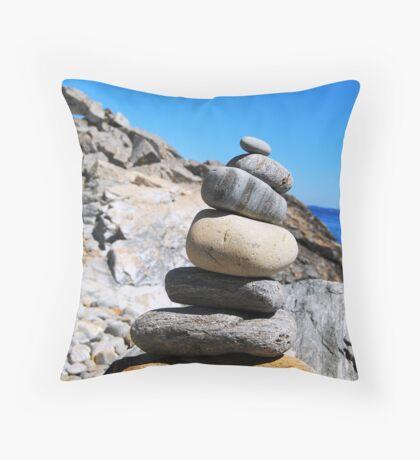 Beach Blocks Throw Pillow
