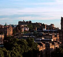 Edinburgh Castle and skyline by ljm000