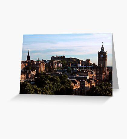 Edinburgh Castle and skyline Greeting Card