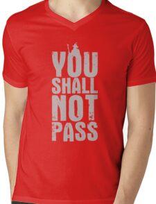 You Shall Not Pass - light grey Mens V-Neck T-Shirt