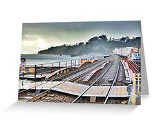 Dawlish Railway Rebuilt. Greeting Card
