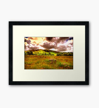 The hills of Donegal  Framed Print