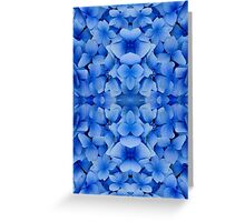 Petals in Blue Greeting Card