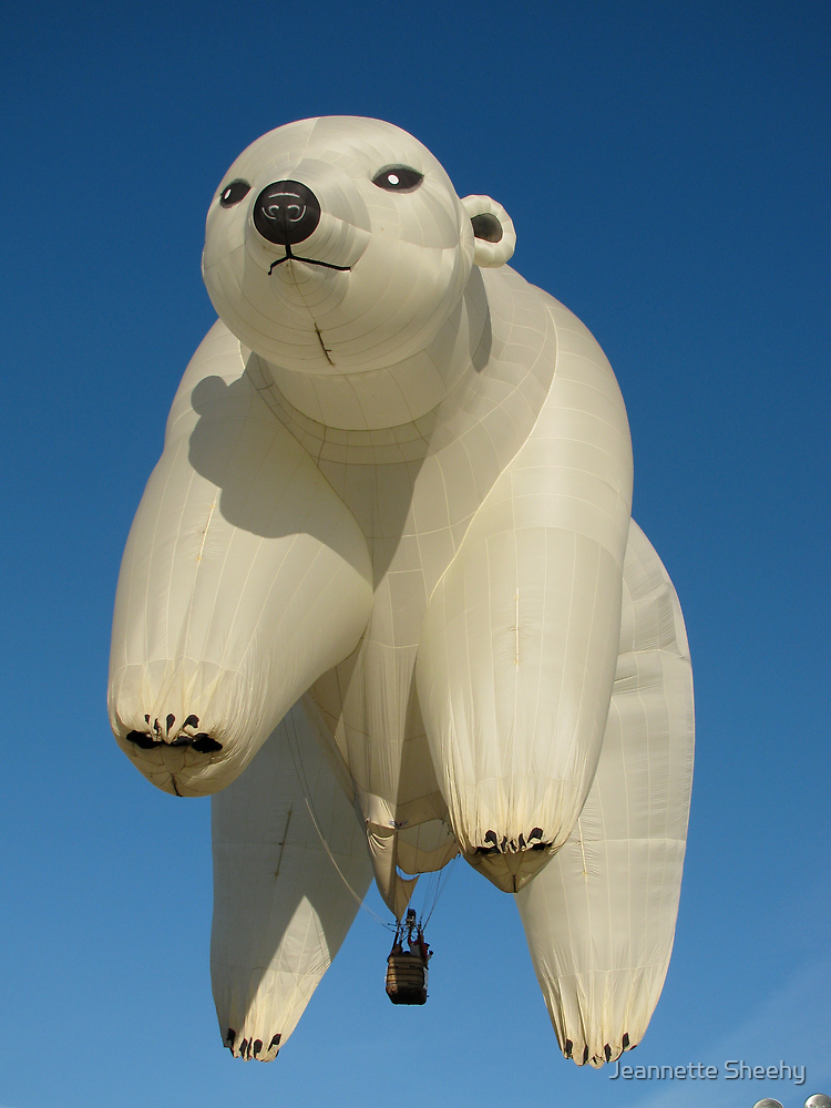 The Polar Bear in Flight by Jeannette Sheehy