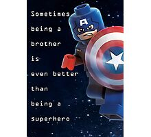 Sometimes being a superhero is even better as being captain america (1) Photographic Print