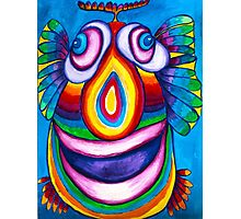 Rainbow Hand Drawn Face Photographic Print