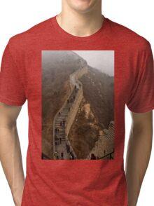 The Great Wall Of China At Badaling - 8 ©  Tri-blend T-Shirt