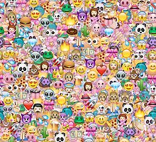 happy emoji pattern by MartaOlgaKlara