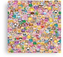 happy emoji pattern Canvas Print