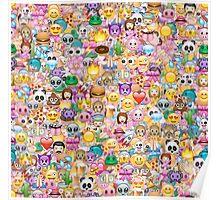 happy emoji pattern Poster