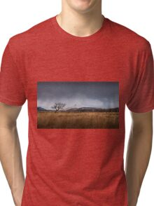 Bare tree on the Brecon Beacons Tri-blend T-Shirt