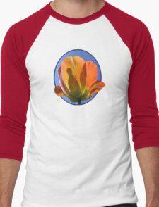 Orange Tulip Against the Sky Men's Baseball ¾ T-Shirt