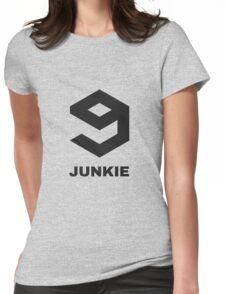 9gag junkie! When over 9000 posts are not enough.. Womens Fitted T-Shirt