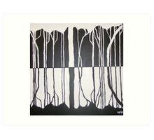 Organic Monochromatic Art Print