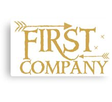 First COMPANY with arrows Canvas Print