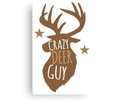 Crazy Deer Guy Canvas Print