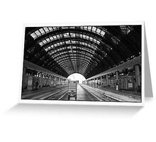 Train Station Greeting Card