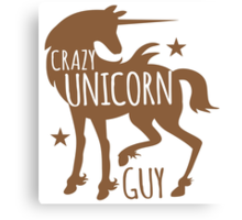 Crazy unicorn guy Canvas Print