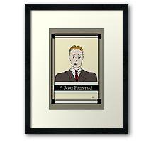 F Scott Fitzgerald Portrait in 60 seconds in yellow Framed Print