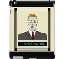 F Scott Fitzgerald Portrait in 60 seconds in yellow iPad Case/Skin
