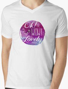 Oh! Wow! Lovely Mens V-Neck T-Shirt