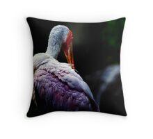"""Night"" bird (square format) Throw Pillow"