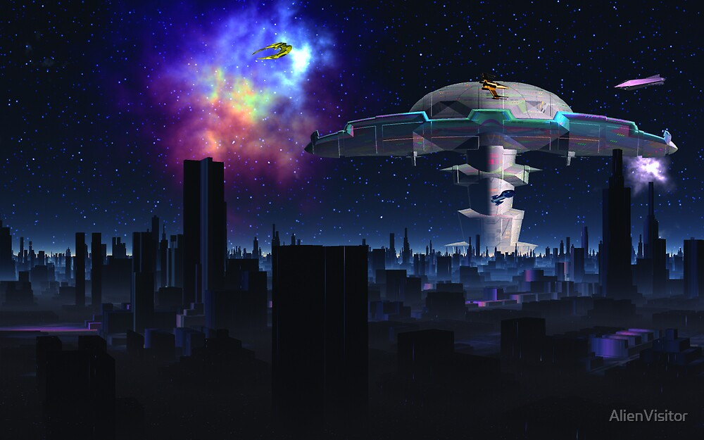 Nightfall Marsport by AlienVisitor