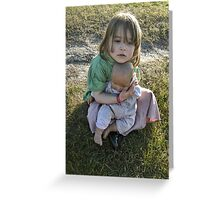 """""""Me and My Doll"""" #5 Greeting Card"""