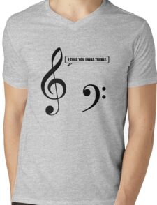 Music Pun Mens V-Neck T-Shirt