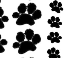 Paw Prints Pattern on Red Sticker