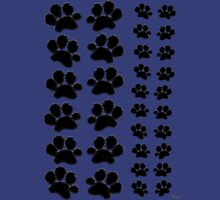 Paw Prints Pattern on Blue Unisex T-Shirt
