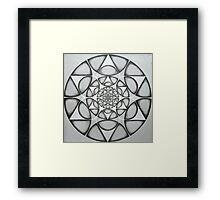 matrix of earth Star  Framed Print