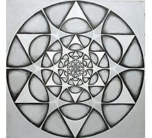 matrix of earth Star  Photographic Print