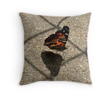 American Beauty Butterfly Throw Pillow