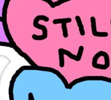 anti Valentine candy hearts no nope still no Sticker