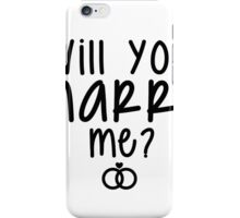 Will You Marry Me? Proposal Ideas iPhone Case/Skin