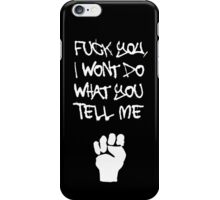 Rage Against The Machine - Killing In The Name - White iPhone Case/Skin
