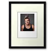 Gronk with a Cat T-Shirt Framed Print