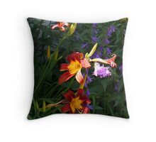 Daylilies in the Wildflowers Throw Pillow