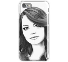 Emma Stone digital painting  iPhone Case/Skin