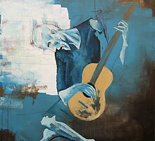 The Old Guitarist: A Picasso Study by chadberoth
