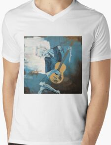 The Old Guitarist: A Picasso Study Mens V-Neck T-Shirt