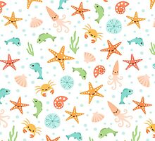 Cute under the sea pattern by MheaDesign