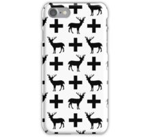 Deer Plus - Modern black and white trendy pattern design for hipster gifts and cell phone cases iPhone Case/Skin