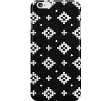 Arizona - tribal black and white native design in geometric blocks iPhone Case/Skin