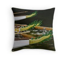 Dragon Boats #2 Throw Pillow