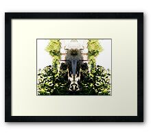Northcote Community Gardens Fantasy 1 (the old lady of the garden) Framed Print
