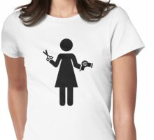 Hairdresser woman Womens Fitted T-Shirt